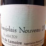 Beaujolais Nouveau(ボジョレー・ヌーヴォー) No Added SO2 2013