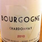 BOURGOGNE CHARDONNAY(ブルゴーニュ・シャルドネ) 2010